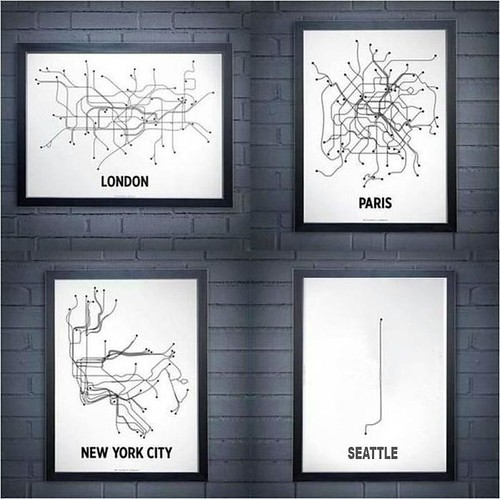 Rail Map - London Paris NYC Seattle