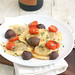 Chicken Marsala Ravioli with Roasted Tomatoes and Mushrooms