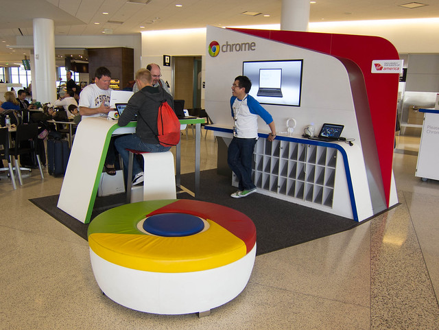 Google Chromebook Kiosk at SFO