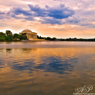 ~Colorful Sunset At Jefferson Memorial~