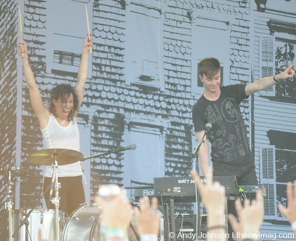 Matt and Kim @ Catalpa NYC Music Festival 2012