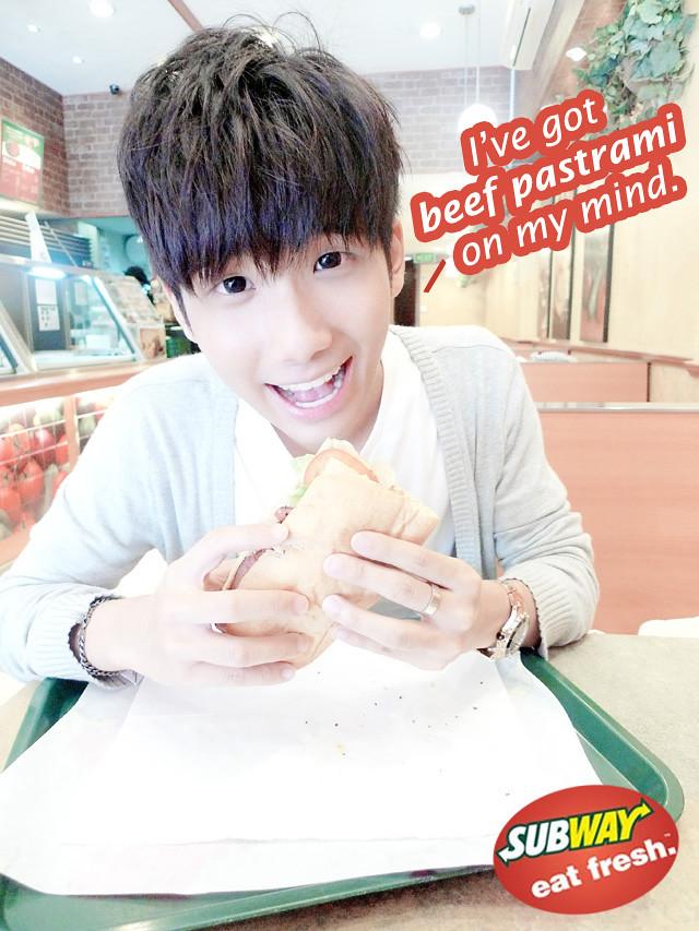 typicalben subway beef pastrami poster