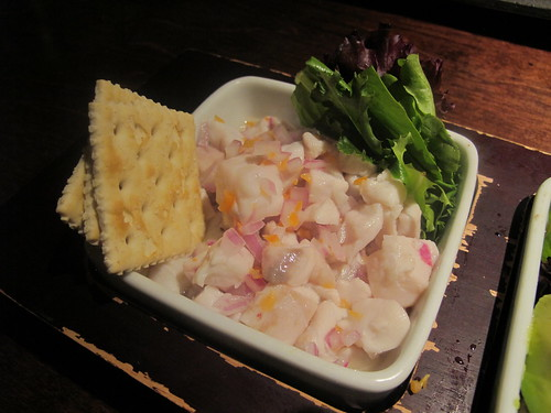 Panamanian Ceviche: Drum fish with jabanero peppers and red onion. Photo by Melanie Merz.