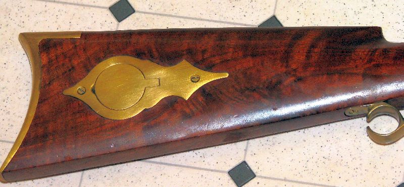 T/C Hawken rifle | Right stock & patch box | Terry Stetler