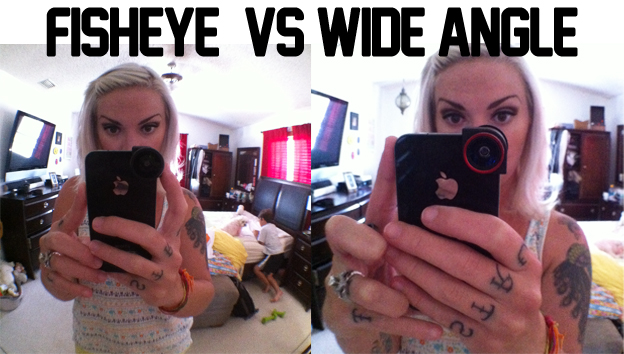 Fisheye vs wide angle