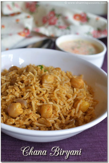 Channa Biriyani Recipe