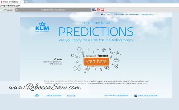 KLM travelpredictions com