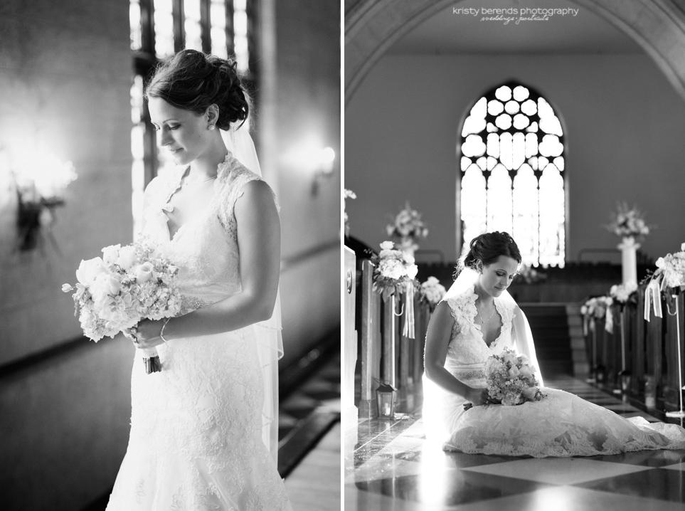 Bride in Dimnent Chapel