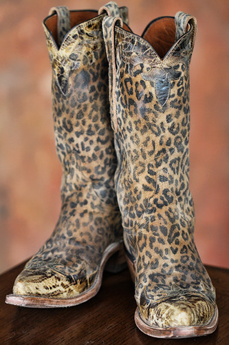 leopard boots from Cheyenne, WY