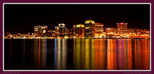 city nightphotography canada color colour skyline night landscape photography nikon cityscape novascotia spectrum atlantic halifax maritimes d90 uirban marcgeuzinge marcgeuzingephotography