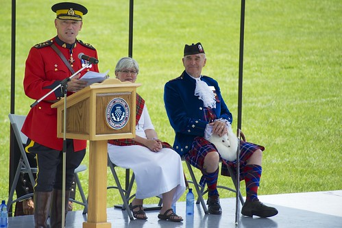 Commissioner of the RCMP declares 'open' the 65th Annual Glengarry Highland Games in August 2012