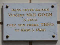 Photo of Vincent Van Gogh and Theo Van Gogh white plaque