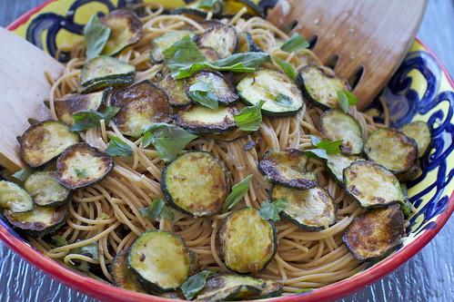 Fried Zucchini Spaghetti