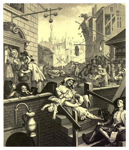 019- La calle de la cerveza y la de la ginebra- The works of William Hogarth  in a series of engravings 1860
