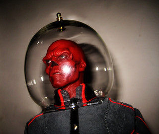 Red Skull Bubble Space Helmet 1048