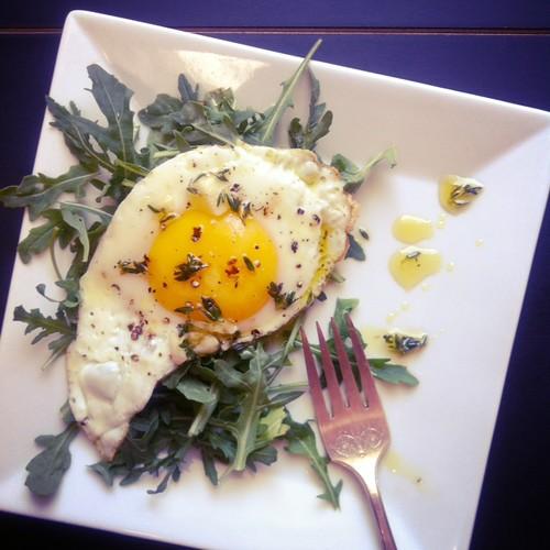 herb oil egg