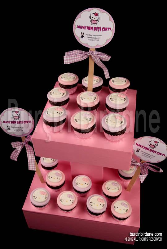 H Kitty cupcake