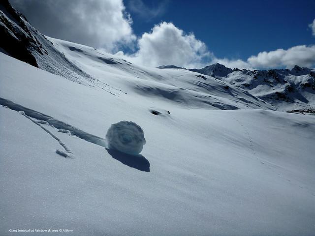 Giant Snowball at Rainbow ski area