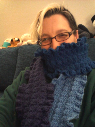 Night and Day crochet scarf