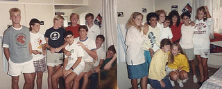 Second floor sponsor group at Wig, 1987. Submitted by Mercedes Fitchett '91