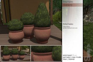 Sway's [Garrison] Potted Topiary | for TLC