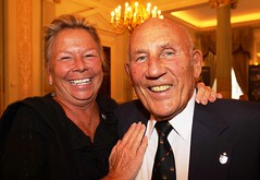 Sir Stirling Moss with his wife Lady Moss at The Segrave Trophy.  The Royal Automobile Club. Pall Mall...