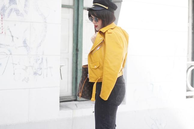 chaqueta amarilla zara combinar mom jeans adidas stan smith leztin street myblueberrynightsblog