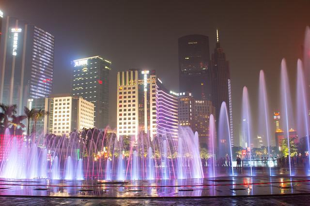 花城广场音乐喷泉3
