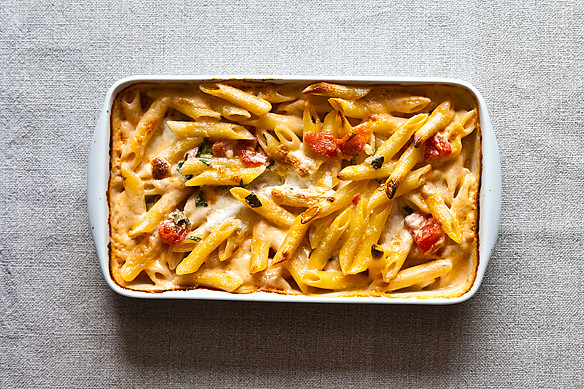 How to Make Pasta with Tomato, Cream, and Five Cheeses