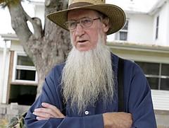 old man and amish beard