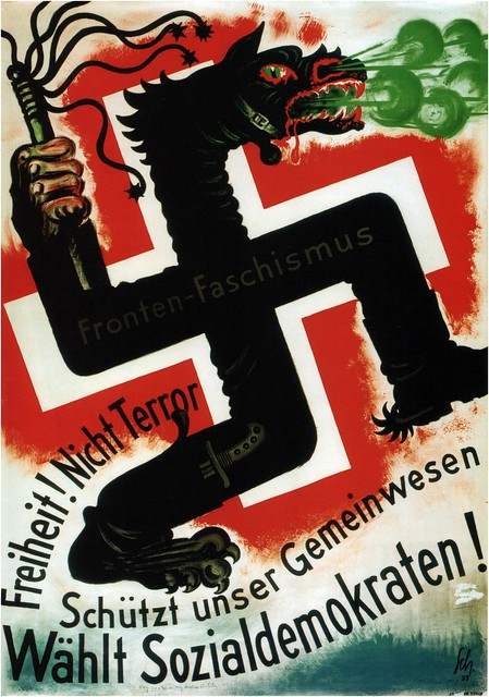 Carl Scherer. Vote Social Democrats. 1933