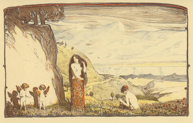 Ludwig von Hofmann. Sonnige Tage (Sunny Days). Berlin, 1897. Pan. Vol. III, no. 4.