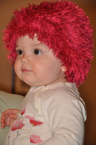 15 months fuzzy hat