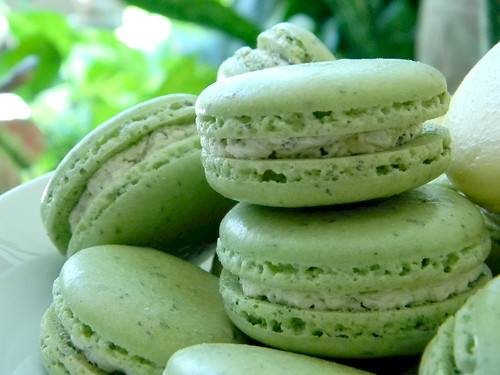 Fresh Mint Macarons