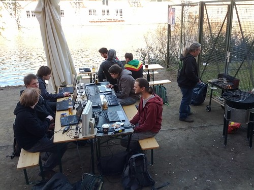 OpenAir @immopoly Hackday am @cbase spreestrand