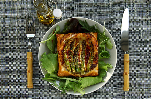 green asparagus tart