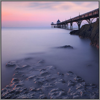 Pink Sunset at Clevedon Pier