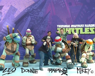 032012;'SHELL SHOCK WEEK' :: Leo, Donnie, Raph, Mikey,Tokka, Fugitoid, & Ivey Family
