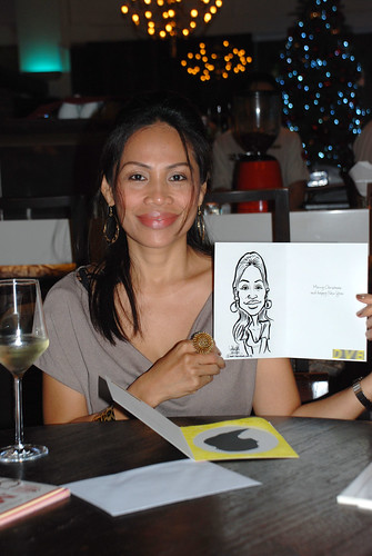 caricature live sketching for DVB Christmas party - 2