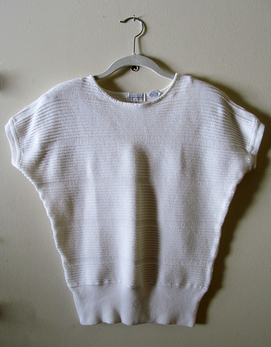 WhiteDolmanSweaterTopFront