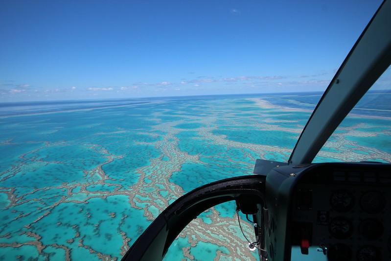 Arrecife de Coral desde Helicóptero