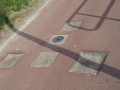 Slecht wegdek op fietspad
