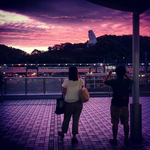 台風4号が去った日の夕焼け