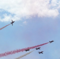 Red Arrows performing 12