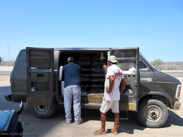Selling Bread from a Van, Hwy 1 toward La Paz