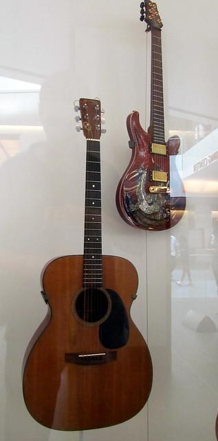 Photo:Guitars Elizabeth Cotton and Paul Reed Smith Smithsonian  American History Washington DC 7249 By bobistraveling