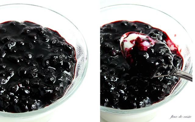 паннакота ванильная с черничным соусом 4