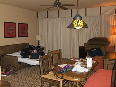 Living room of Animal Kingdom Lodge Kidani 2-bedroom 1-bedroom villas