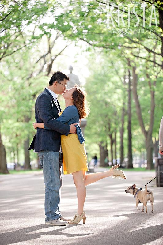 Engagement Session in Boston Public Garden