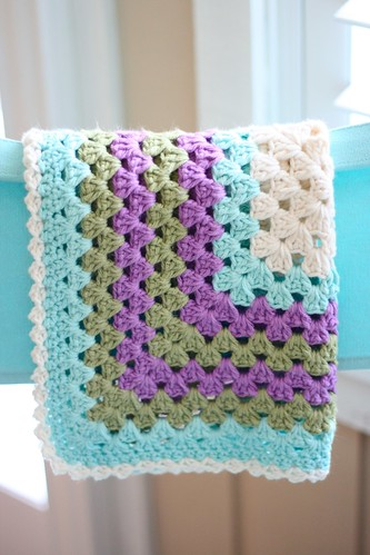 Granny Square Baby Lovie 1